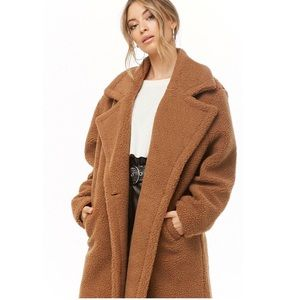FOREVER 21 Faux shearling Double-breasted Coat